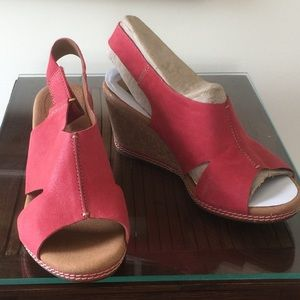 "Clark's 3"" new wedges sandal"